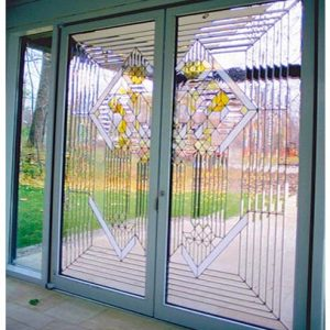 Geometrically-Pattern-Glass-Door